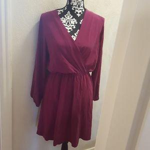 Amourvert violet shimmer dress